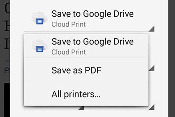 """Bấm """"Save as PDF""""  để lưu trang web theo dạng PDF trên điện thoại di động Android"""