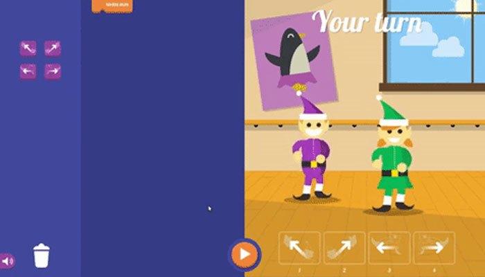 Bạn sẽ điều khiển nhân vật nhảy nhót theo các mẫu trên điện thoại