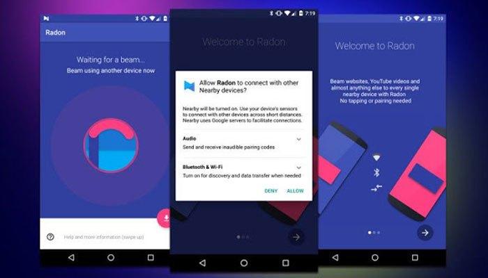 Ứng dụng chia sẻ nội dung của điện thoại Android
