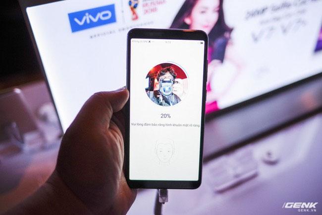 Công nghệ nhận diện khuôn mặt đã được trang bị trên Vivo V7