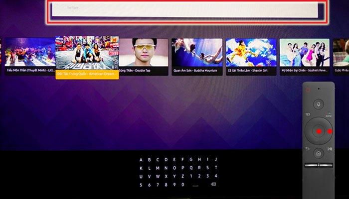Nhập tên phim bạn cần xem vào ô tìm kiếm của ứng dụng FPT Play