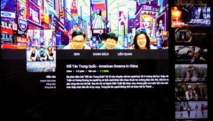 Ứng dụng FPT Play còn cho phép bạn Bạn xem trước thông tin và nội dung phim