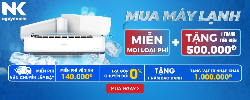 Mua máy lạnh miễn phí mọi thứ và tặng 1 tháng tiền điện 500K