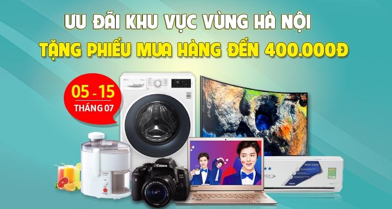 Ưu đãi khu vực vùng Hà Nội tặng PMH đến 400.000đ