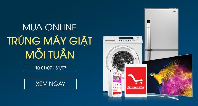 Chương trình Mua Online trúng máy giặt mỗi tuần