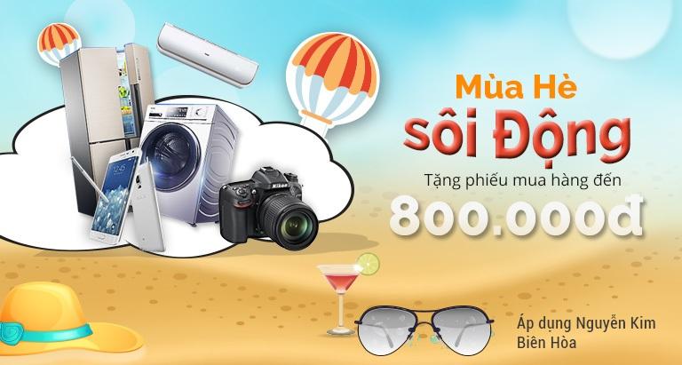 Mùa hè sôi động tặng phiếu mua hàng đến 800.000 VNĐ