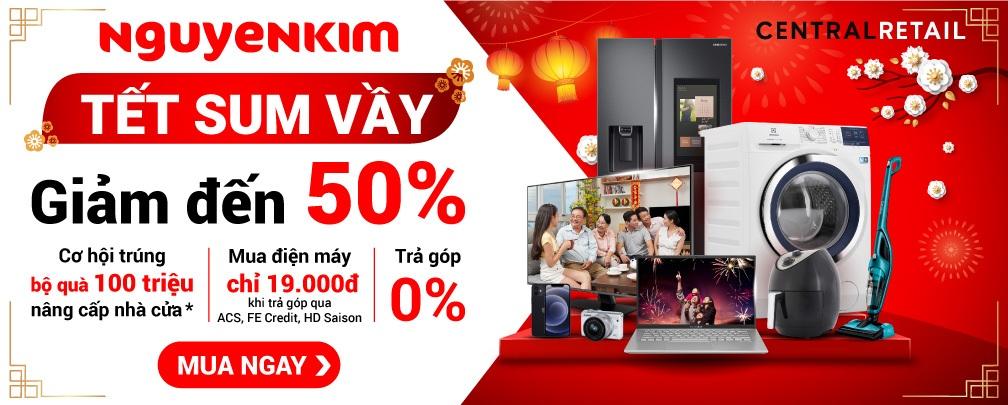 Đại tiệc tết online, giảm giá sốc đến 50%