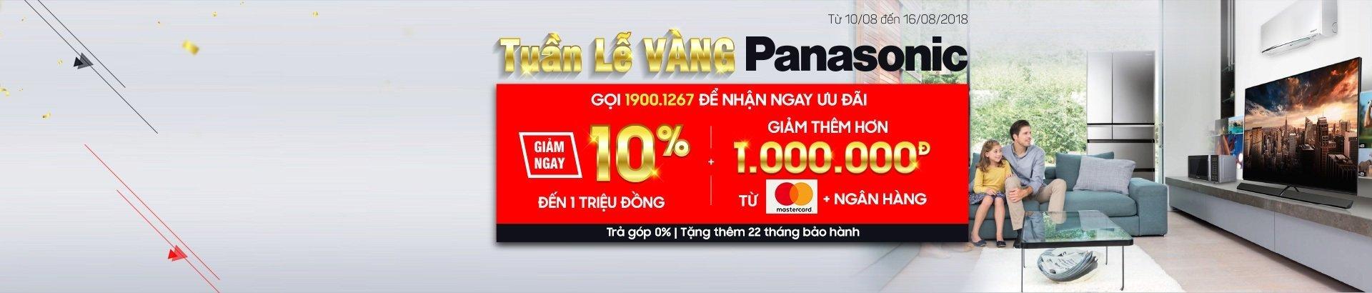 Tuần lễ vàng<br/> Panasonic ưu đãi