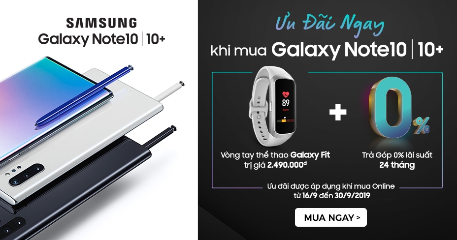 Samsung Galaxy Note 10 tặng Galaxy Fit