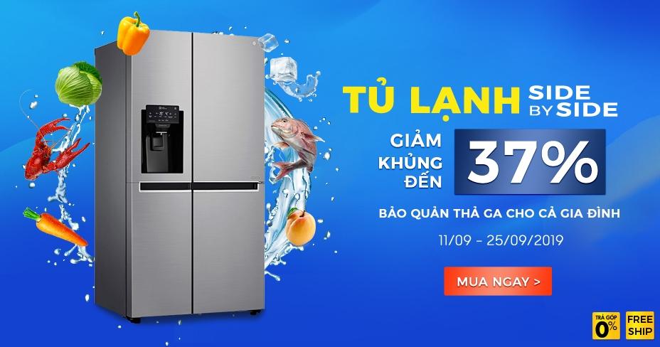 Giảm đến 37% Tủ lạnh Side By Side