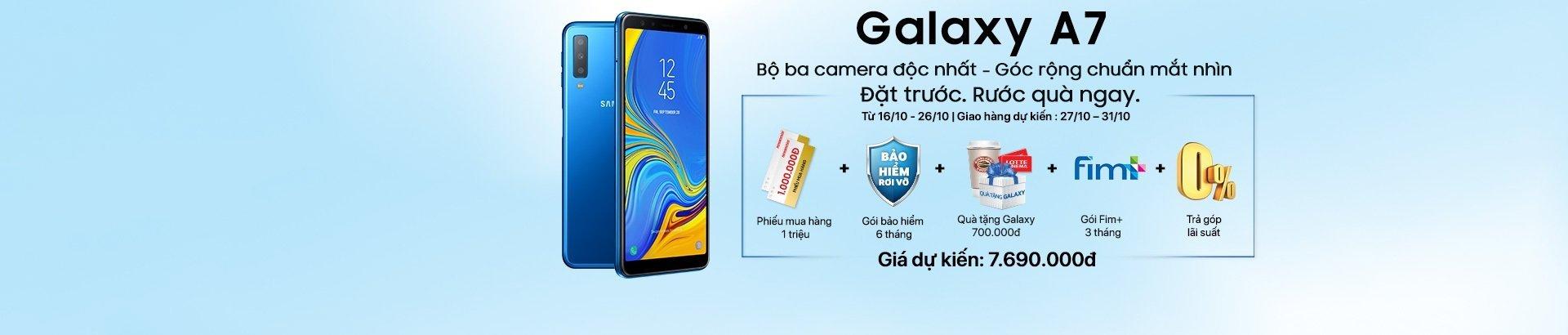 Đặt Galaxy A7<br/>Nhận quà hot