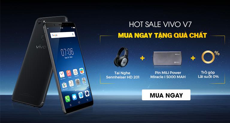 [Khuyến mãi Nguyễn Kim] Khuyến mãi Nguyễn Kim – Hot sale Vivo V7 – mua ngay tặng quà chất