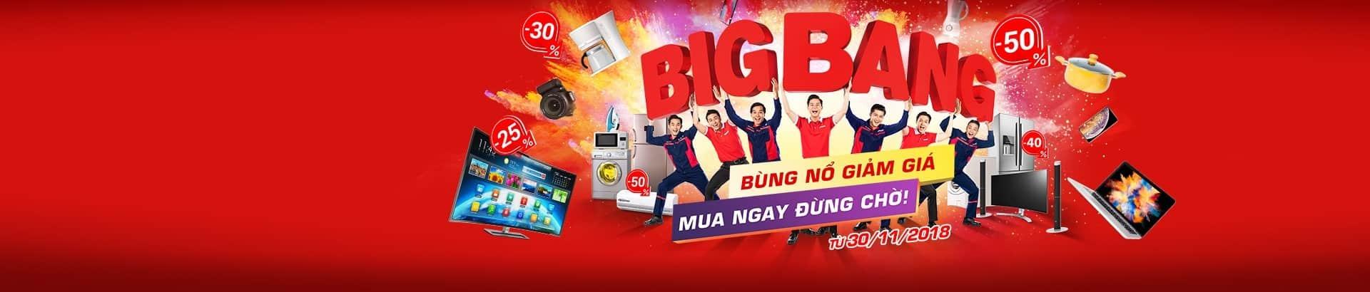 BigBang 2018</br>Giảm đến 50%