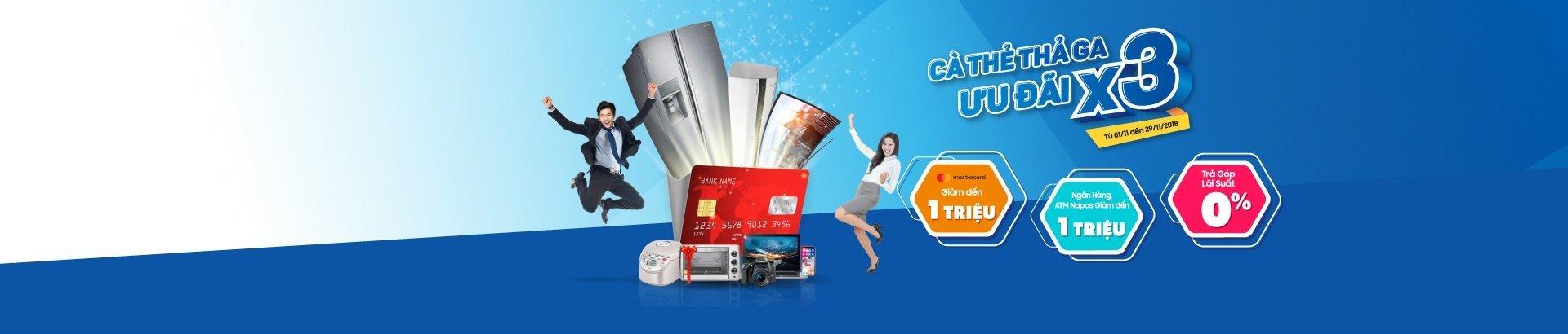 Cà thẻ thả ga<br/>ưu đãi x3
