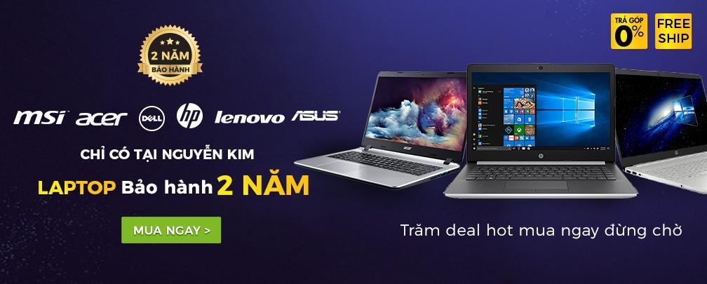 Bảo hành 1+1 cho laptop từ 6 hãng lớn | Chỉ có tại Nguyễn Kim
