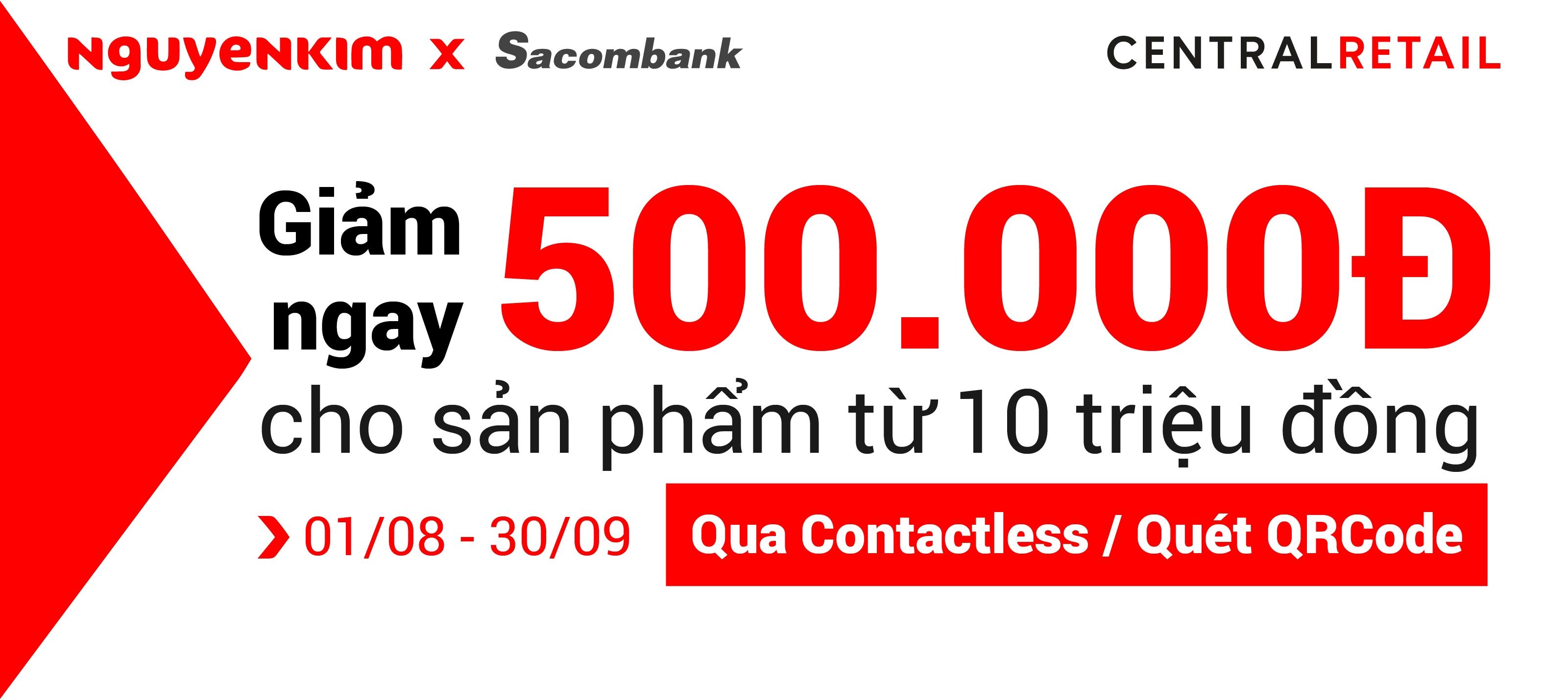 Partnership_Đối tác_Chương trình liên kết Nguyễn Kim & Sacombank