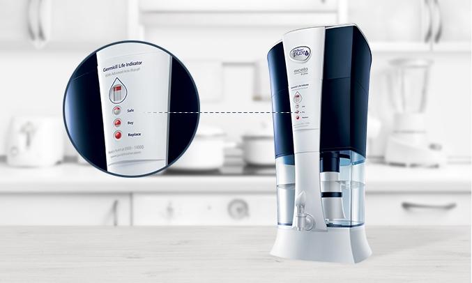 Máy lọc nước Pureit Excella với khả năng cảnh báo thời hạn sử dụng của bộ diệt khuẩn