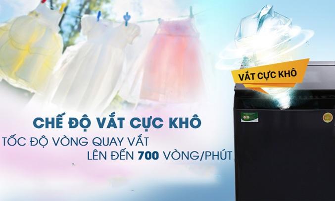Máy giặt Toshiba 14 Kg AW-DUG1500WV có chế độ vắt cực khô lên đến 770 vòng/ phút vô cùng tiện lợi