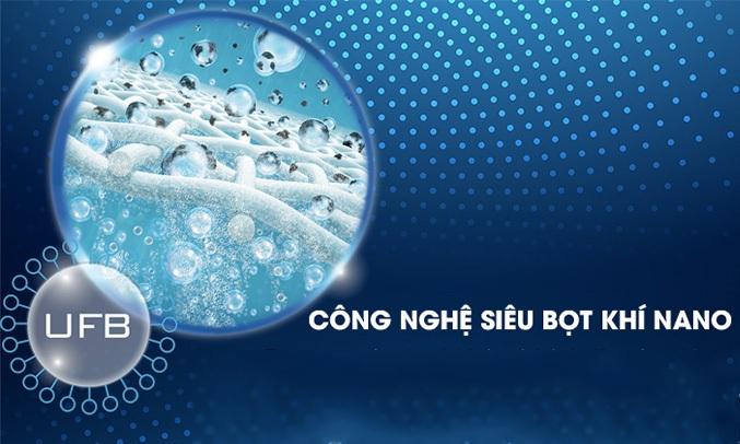 Máy giặt Toshiba với công nghệ siêu bọt khí Nano cho hiệu quả giặt sạch tối ưu, kể cả những vết bẩn cứng đầu
