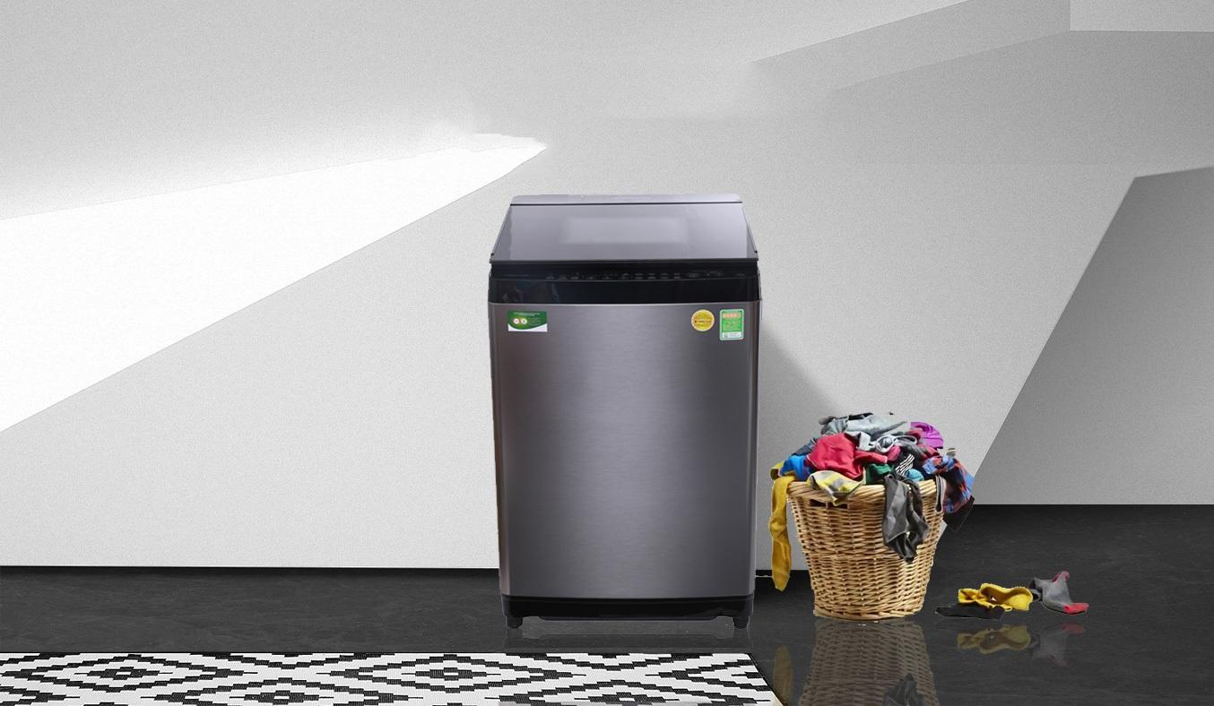 Máy giặt Toshiba 15kg AW-DUG1600WV với chất liệu thép không gỉ, thiết kế chắn chắn, bền bỉ