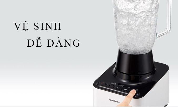 Máy xay sinh tố Panasonic MX-V300KRA dễ dàng vệ sinh chỉ với 1 nút bấm