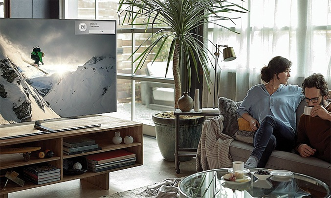 Tivi QLED Samsung 55 inch QA65Q7FNAKXXV có thể điều khiển bằng giọng nói