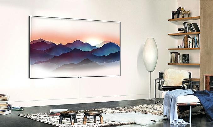 Tivi QLED Samsung 55 inch QA65Q7FNAKXXV có chế độ màn hình chờ Ambient Mode