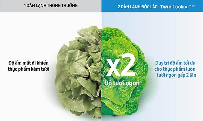 Tủ lạnhSamsung RT35K5982BS giúp thực phẩm tươi ngon gấp 2 lần