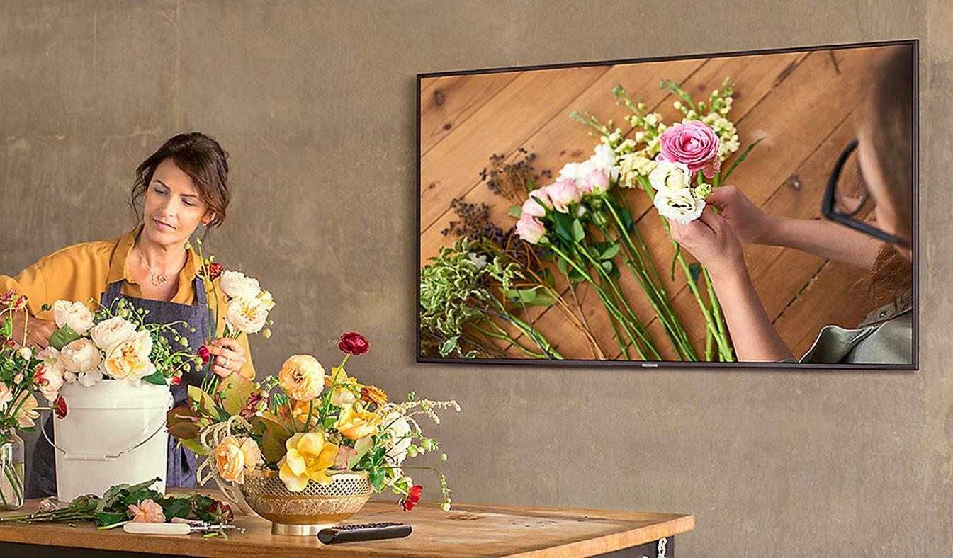 Tivi Samsung 58 inch UA58NU7103KXXV có thiết kế sang trọng, hiện đại