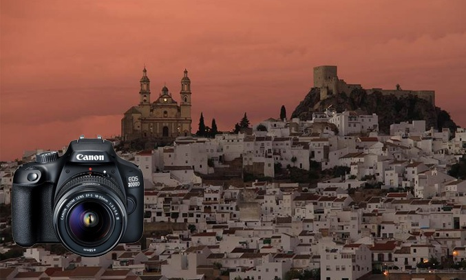 Máy ảnh CanonEOS 3000D KIT 18-55 DC III chụp ảnh theo môi trường