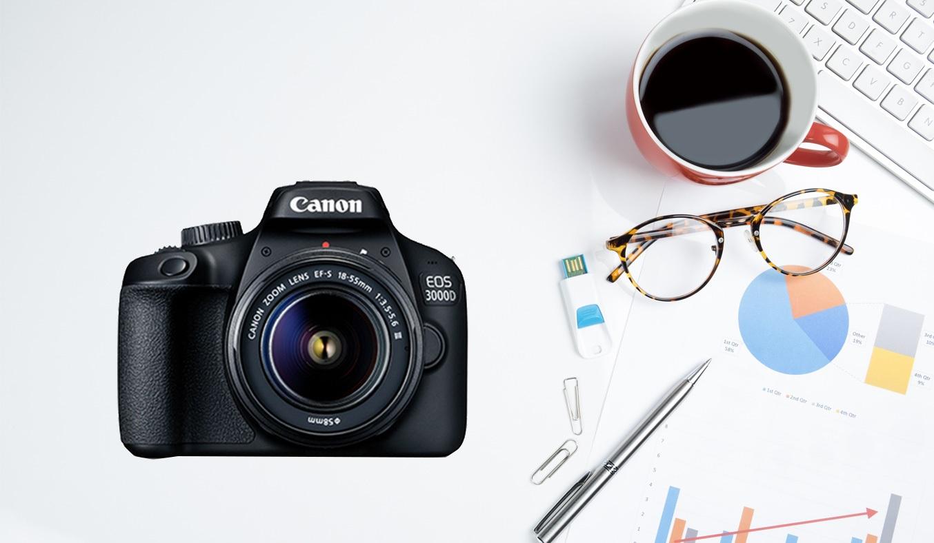 Máy ảnh CanonEOS 3000D KIT 18-55 DC III có cảm biến CMOS