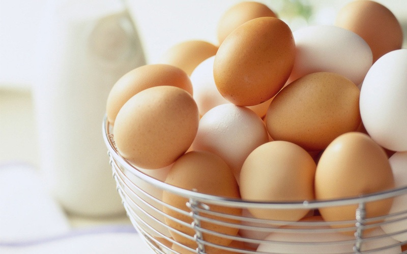 Trứng nên được bảo quản ở nhiệt độ từ 0,6 đến 2,2 độ C