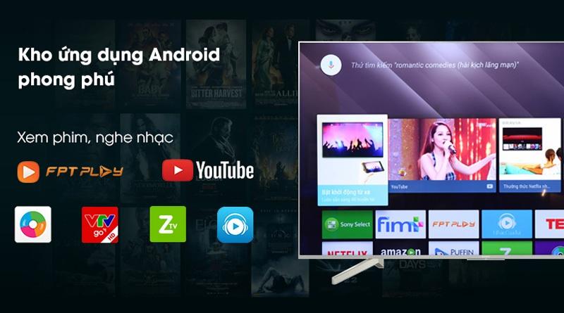 Android TV với kho ưng dụng phong phú