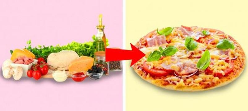 Với các loại thức ăn thừa, hãy thử kết hợp chúng với đế bánh pizza, sốt cà chua, mayonaise và rắc phô mai lên rồi nướng