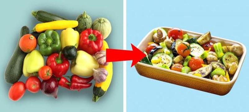 Bạn có thể mang các loại rau củ quả thừa đi nướng hoặc cho vào nấu các món hầm