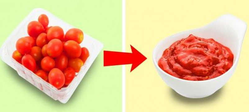 Với những quả cà chua sắp hỏng, hãy bóc vỏ và hầm chúng trên lửa khoảng 10 phút