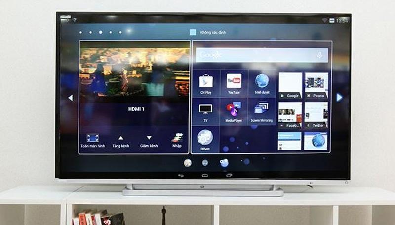 Android trên TV Toshiba được ví như mang giao diện của chiếc máy tính bảng lên màn hình lớn