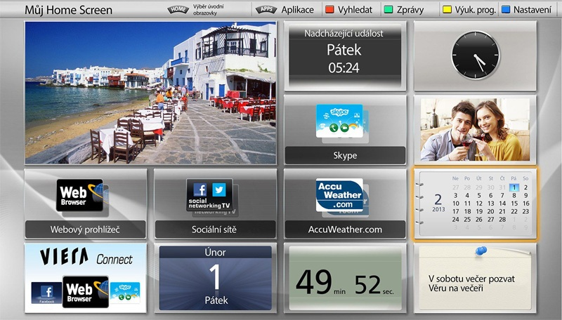 My home Screen là giao diện thông minh có tính cá nhân hóa cao