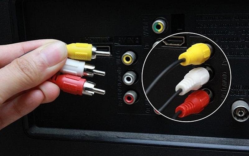 Cổng AV (Audio Video) hay Composite là cổng kết nối chuyển tải hình ảnh cơ bản
