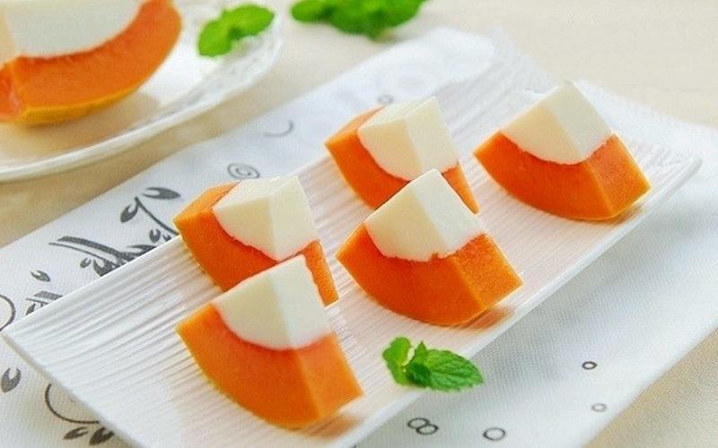 Làm pudding đu đủ với nguyên liệu và công thức đơn giản giúp bạn có món ăn bổ dưỡng, thơm ngon