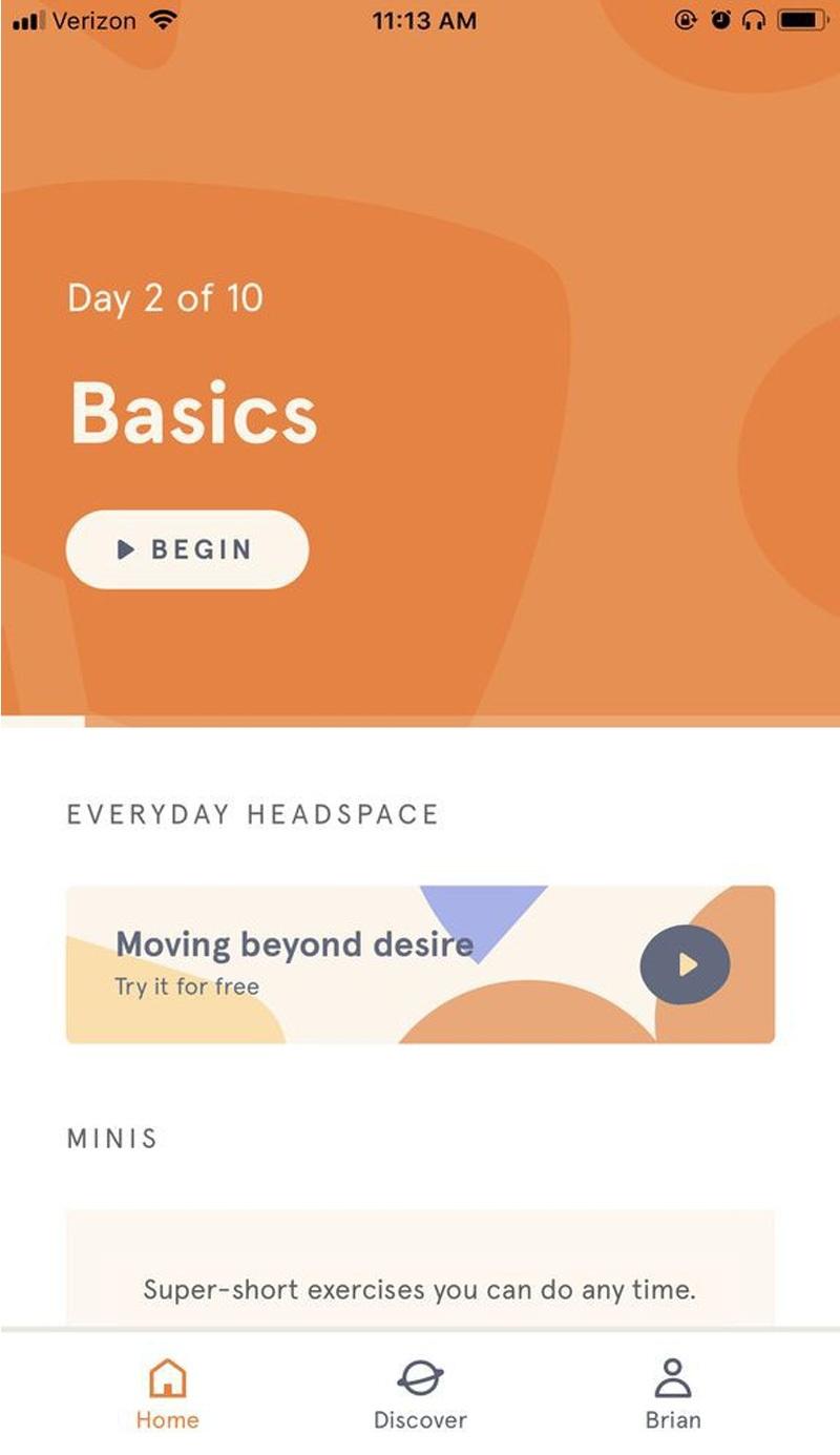 Headspace: Meditation mang đến bạn các bài thiền trong thời gian ngắn