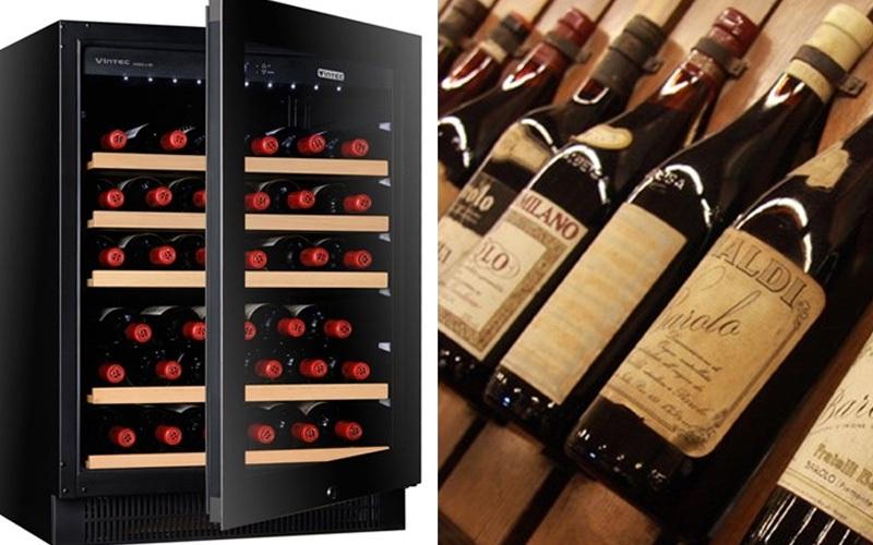 Đặt chai rượu nằm ngang giúp không khí không tràn vào trong tiếp xúc với rượu