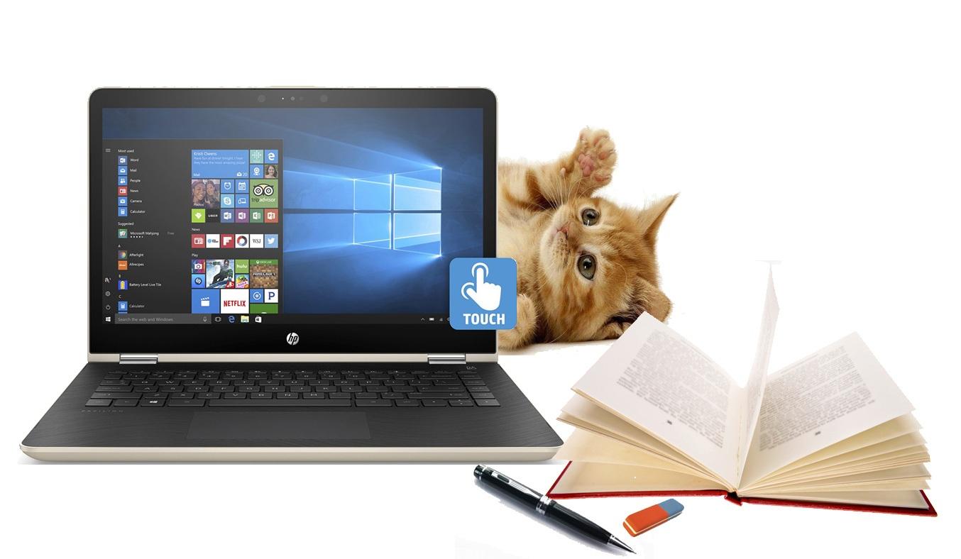 Laptop HP Pavilion X360 14-BA121TU (3CH50PA) có thể xoay linh hoạt