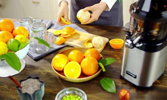 Máy ép trái cây Kuvings NS-120CBM2 có thể ép đa dạng các loại trái cây, rau củ quả