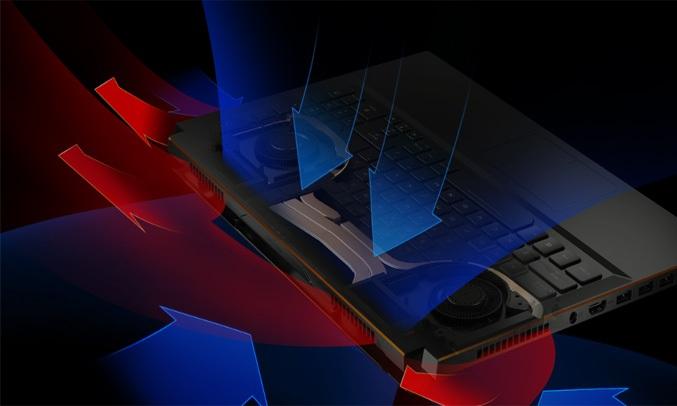 Laptop ASUS ROG Zephyrus M GM501GS-EI004T tản nhiệt hiệu quả