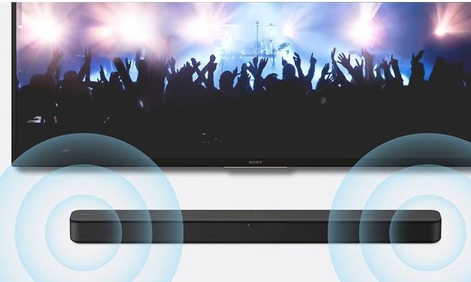 Dàn âm thanh Sound Bar Sony HT-S100F công nghệ âm thanh vòm giả lập