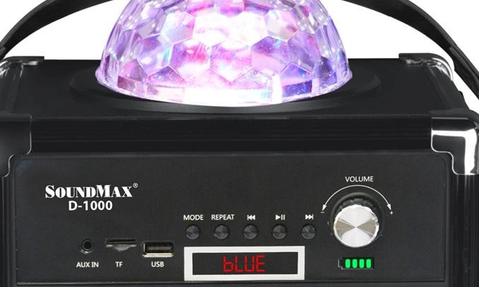 Loa vi tính Soundmax D1ể tương thích nhiều thiết bị với jack cắm 3,5mm