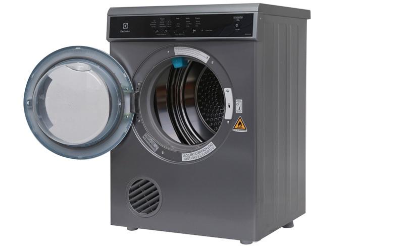 Máy sấy quần áo Electrolux 7.5 kg EDS7552S màu bạc xám chính hãng, giá tốt tại nguyenkim.com