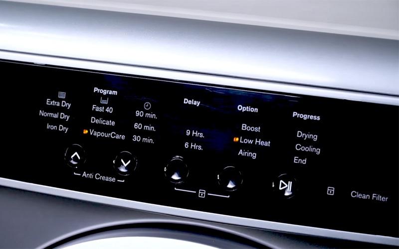 Máy sấy quần áo Electrolux 7.5 kg EDS7552S màu bạc xám chương trình sấy tự động bảo vệ quần áo bền đẹp