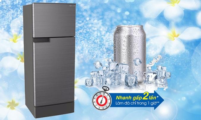 Tủ lạnhSJ-X176E-DSS với khả năng làm đá nhanh gấp 2 lần tủ lạnh thông thường